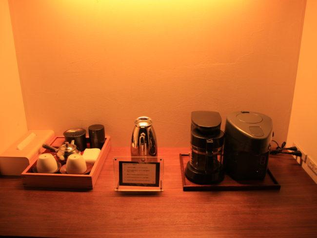 コーヒーメーカやお茶