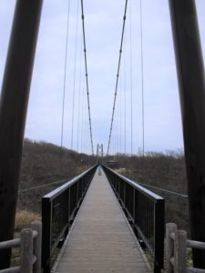 吊り橋の入り口