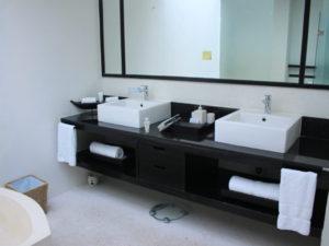2面の洗面所