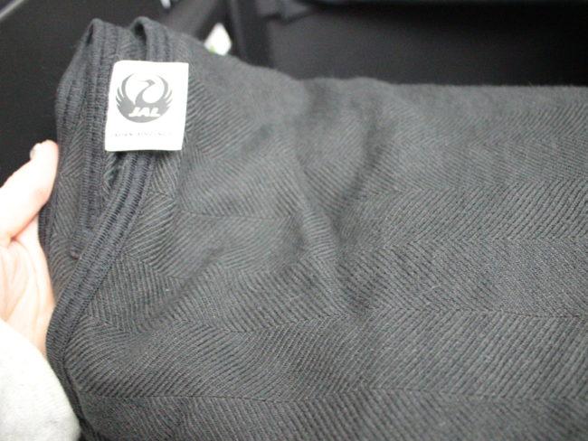 普通の黒い毛布