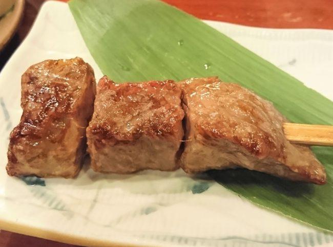 串焼きの近江牛